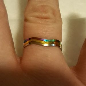 Jewelry - Bundle Stackable Rainbow Rings